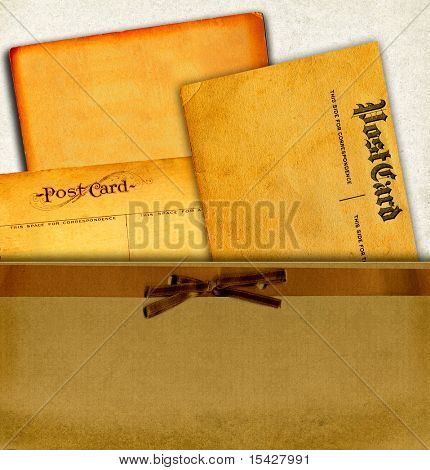 Vintage Real Postcards From Early 1900s And Blank Cardboard Collection In Envelope