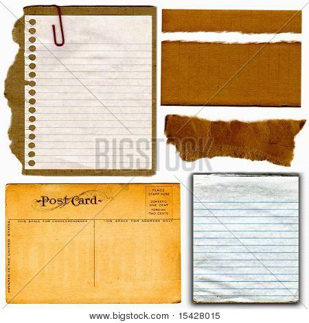 Vintage Real Postcard And Cardboard Paper Items