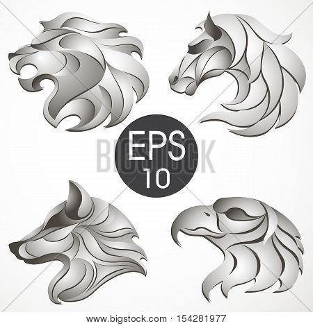 Vector stock collection of animal's logotypes for your design