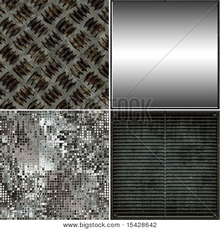 Seamless Metal Textures Set