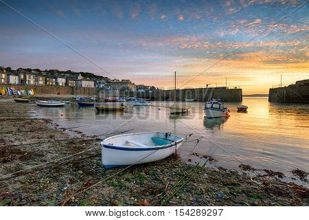Sunrise At Mousehole In Cornwall