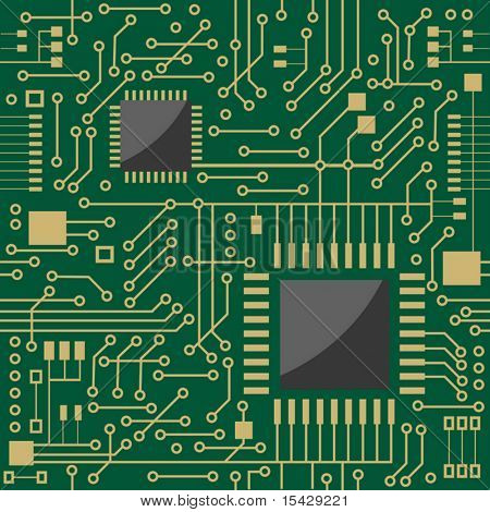 Vector version. Seamless microcircuit as a technology concept or background