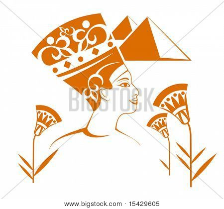 Vector version . Beautiful egyptian decorations isolated on white background
