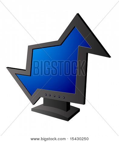 Jpeg version. Funny isolated display as a symbol or icon