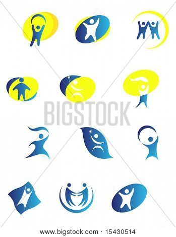 Jpeg version. Isolated people signs and symbols. Vector version also available