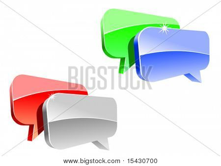 Vector version. Speech or chat icon for web design