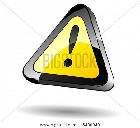 Vector version. Isolated attention icon for web design or warning concept. Jpeg version is also available