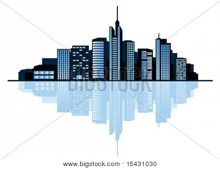 Vector version. Modern cityscape for design as a business concept. Jpeg version is also available