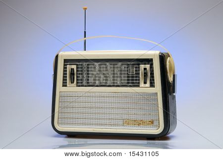 Old-fashioned Radio Receiver