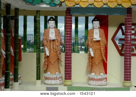 Two Buddha Statues