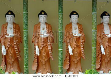 Four Buddha Statues