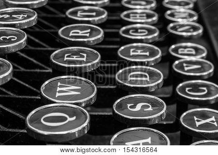 Antique Typewriter - An Antique Typewriter Showing Traditional QWERTY Keys XVI