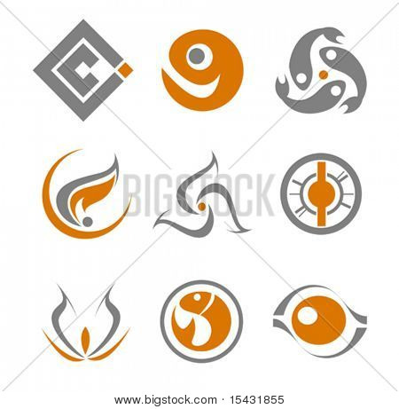 Vector version. Set of different abstract symbols for design. Jpeg version is also available