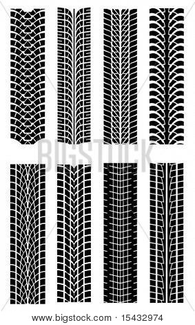 Set of tire shapes. Jpeg version also available