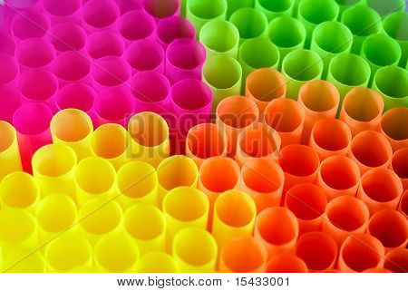 Multi-colored Tubules For A Cocktail