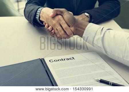 Business Handshake Collaboration Success Concept