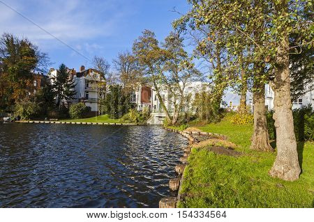 Garden In Center Of Lubeck City, Germany