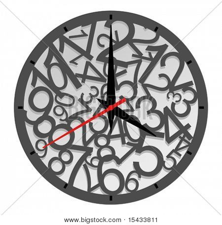 Natural clock icon isolated on white for design. Jpeg version also available