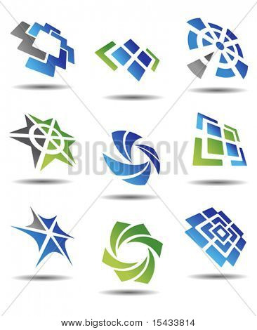 Set of different abstract symbols for design. Jpeg version also available in gallery