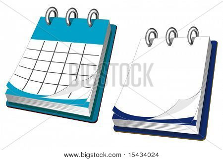 Calendar icon in two variations for web design. Vector version also available
