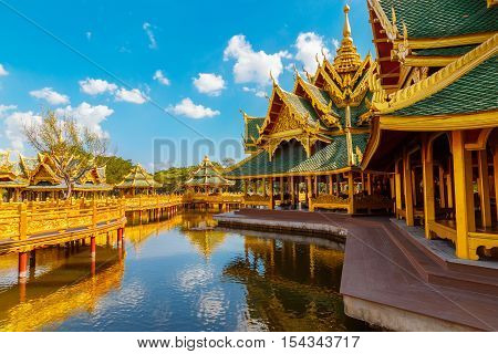 Bangkok, Thailand - December 30 2015: Pavilion Of The Enlightened, Ancient Siam Is A Park Constructe