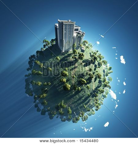 building on green planet