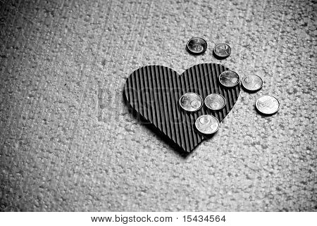 Paper Heart And Little Coins (euro)