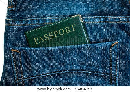 passport in jeans pocket