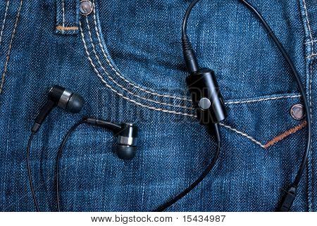 pocket with earphones