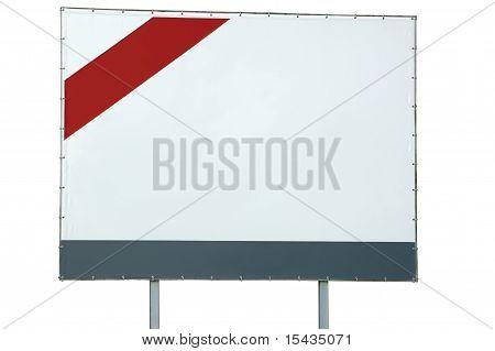 Billboard branco em branco