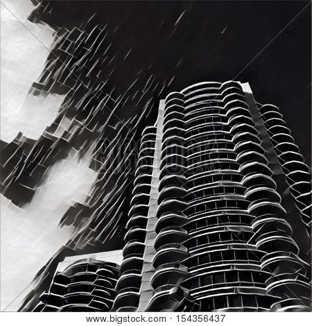 Digital Painting - Urban building