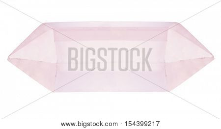 pink natural mountain crystal isolated on white background