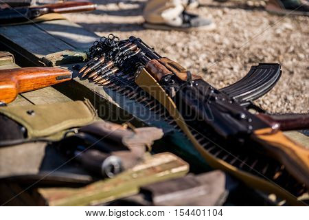 Ammunition and automatic handgun firearms ammo and grenades