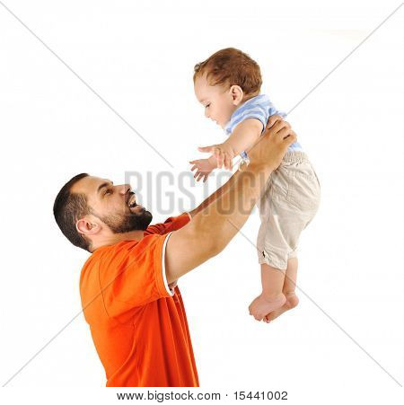 Holding my son, studio shutting, father and baby son together