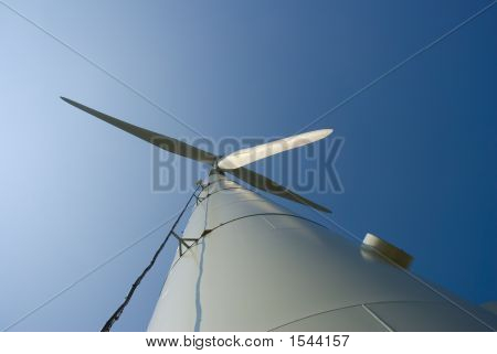Wind Turbine From Bottom