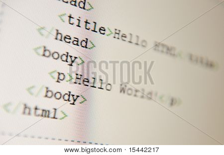 Hello World - html code