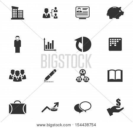 Business icons set and symbols for web user interface