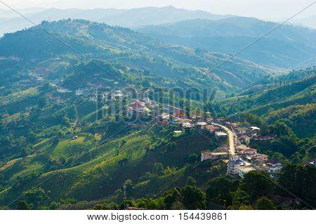 View From The Mountain At Doi Mae Sa Long