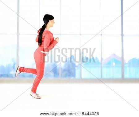 Fitness, girl indoor