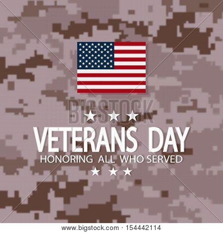 Veterans Day Usa.