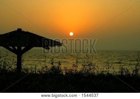 Sunset On Mamzar Beach