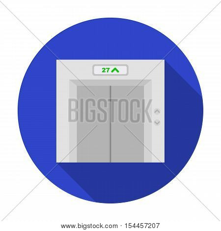 Elevator icon in flat style isolated on white background. Hotel symbol vector illustration.
