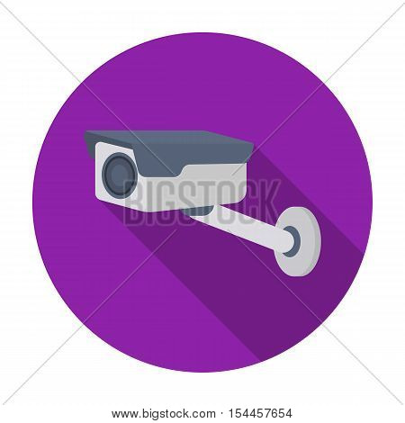 Hidden camera icon in flat style isolated on white background. Hotel symbol vector illustration.