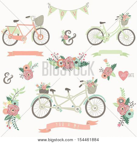 Hand Drawn Floral Bike