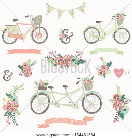 Hand Drawn Floral Bike