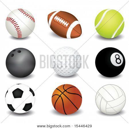Ilustración de vector de bolas del deporte