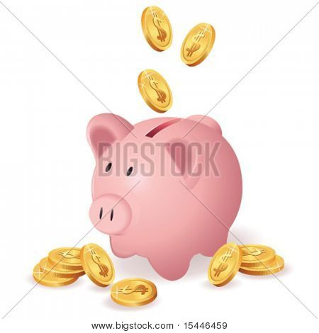 hucha y dinero