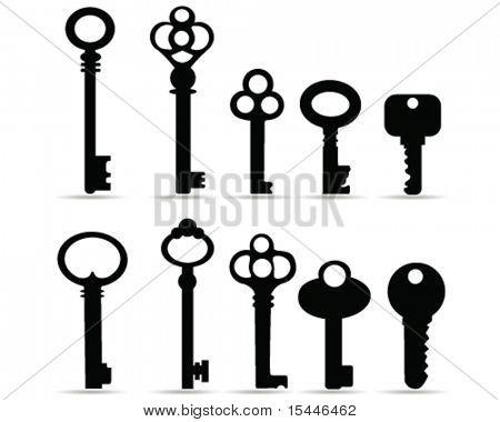 vetor de chaves