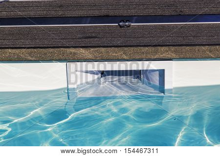 hatch skimmer system of private pool in private pool
