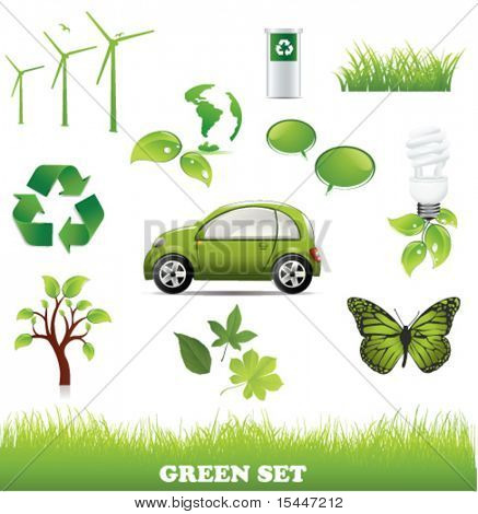Collection of green eco